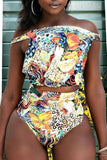 VogueRegion Chic Printed Bikinis Set - VogueRegion