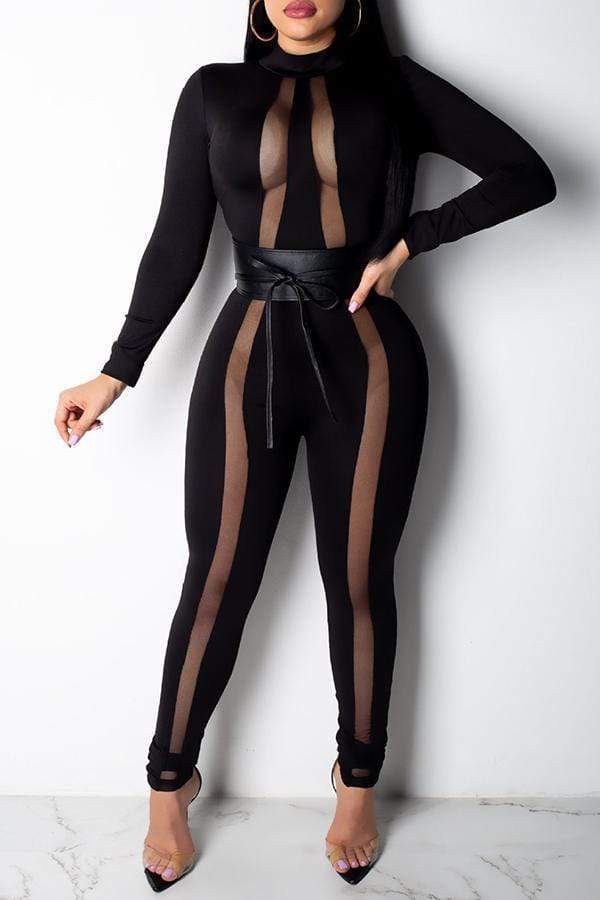 Sexy See-through Skinny One-piece Jumpsuit