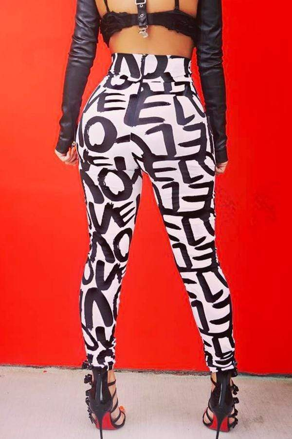 Trendy Printed Skinny Pants