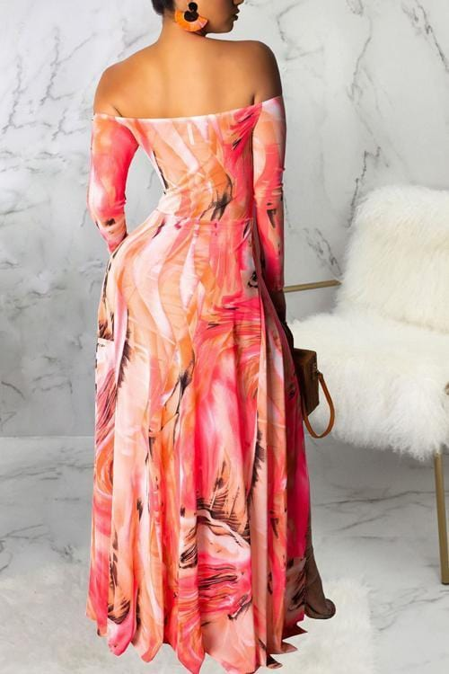 Sexy Floor Length Dress - VogueRegion