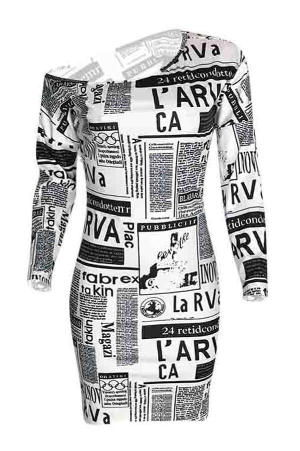 Casual Print  Knee Length Straight Dresses - VogueRegion