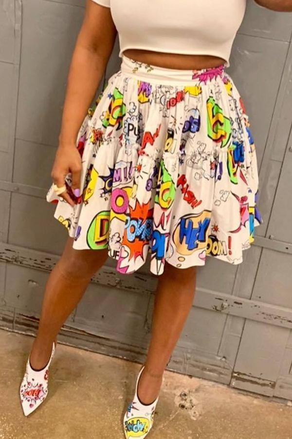 VogueRegion Casual Printed Skirts - VogueRegion