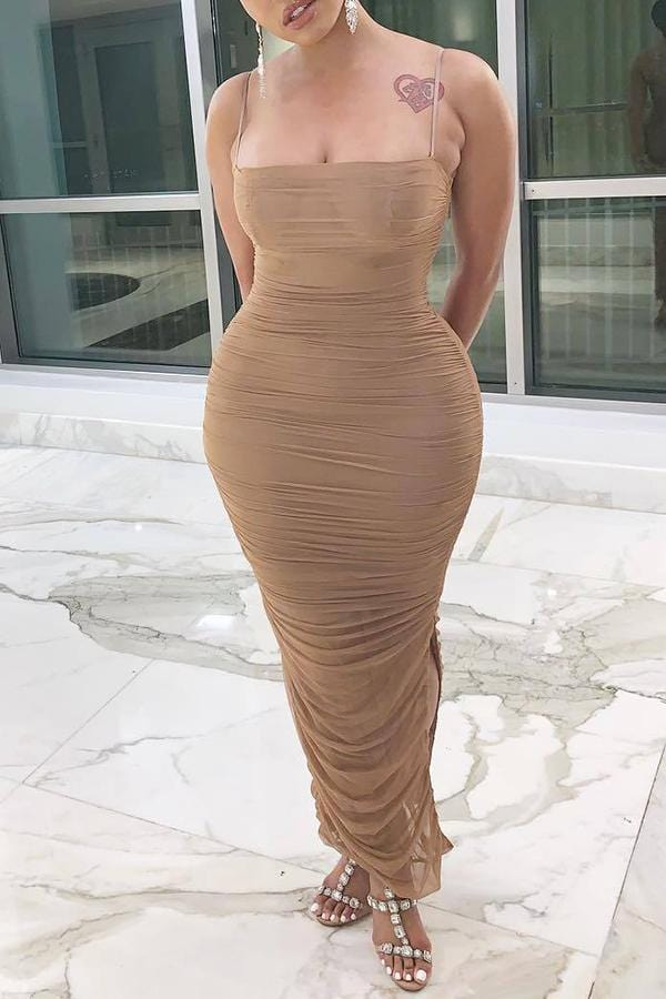 Sexy See-Through  Length Dress(With Elastic) - VogueRegion