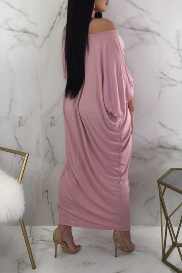 One Shoulder Ankle Length Dress - VogueRegion