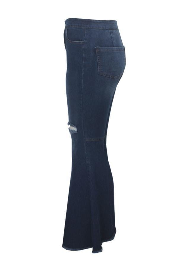 VogueRegion Casual Broken Holes  Jeans - VogueRegion