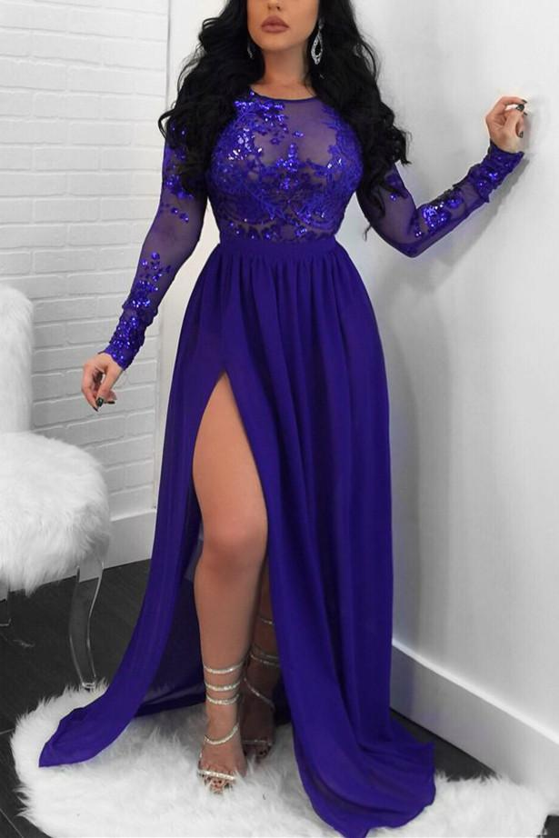 Fashion Sexy Long Sleeved Lace Dress