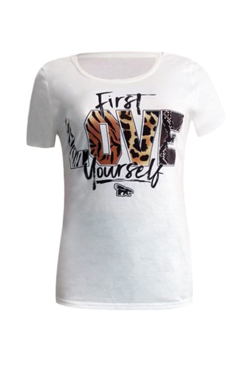 Fashion Casual Letter Printing Top - VogueRegion