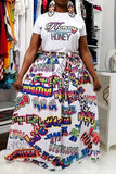 Fashion Casual Letter Printing T-shirt - VogueRegion