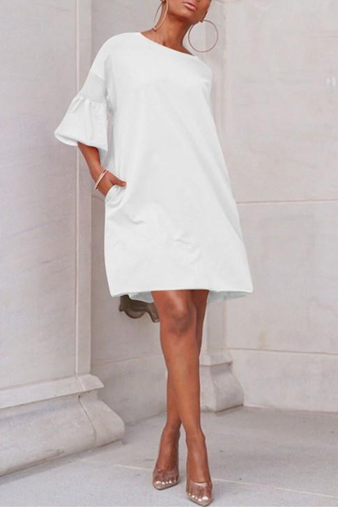 Casual Loose Stitching Mesh  Dress - VogueRegion
