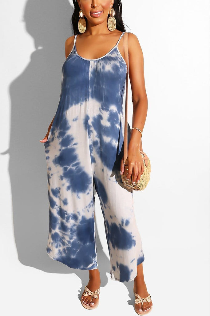 Sexy Sling Sleeveless Loose Jumpsuit