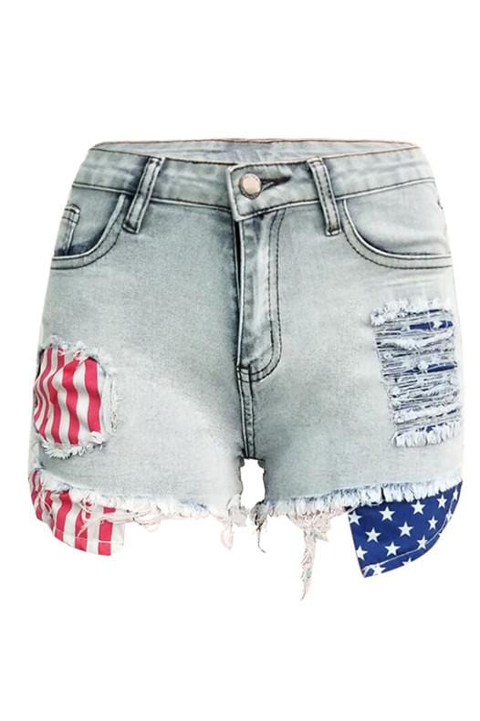 Fashion Sexy Tassel Sanding Denim Shorts