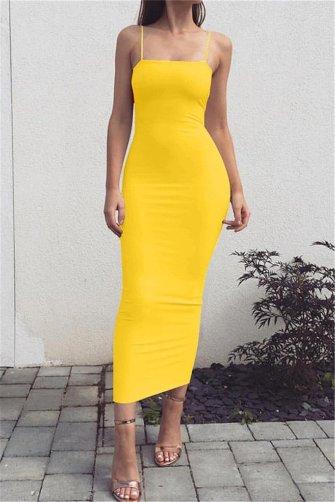 Fashion Sexy Sling Slim-Fit Dress