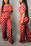 Fashion Dot Printed Pants Set