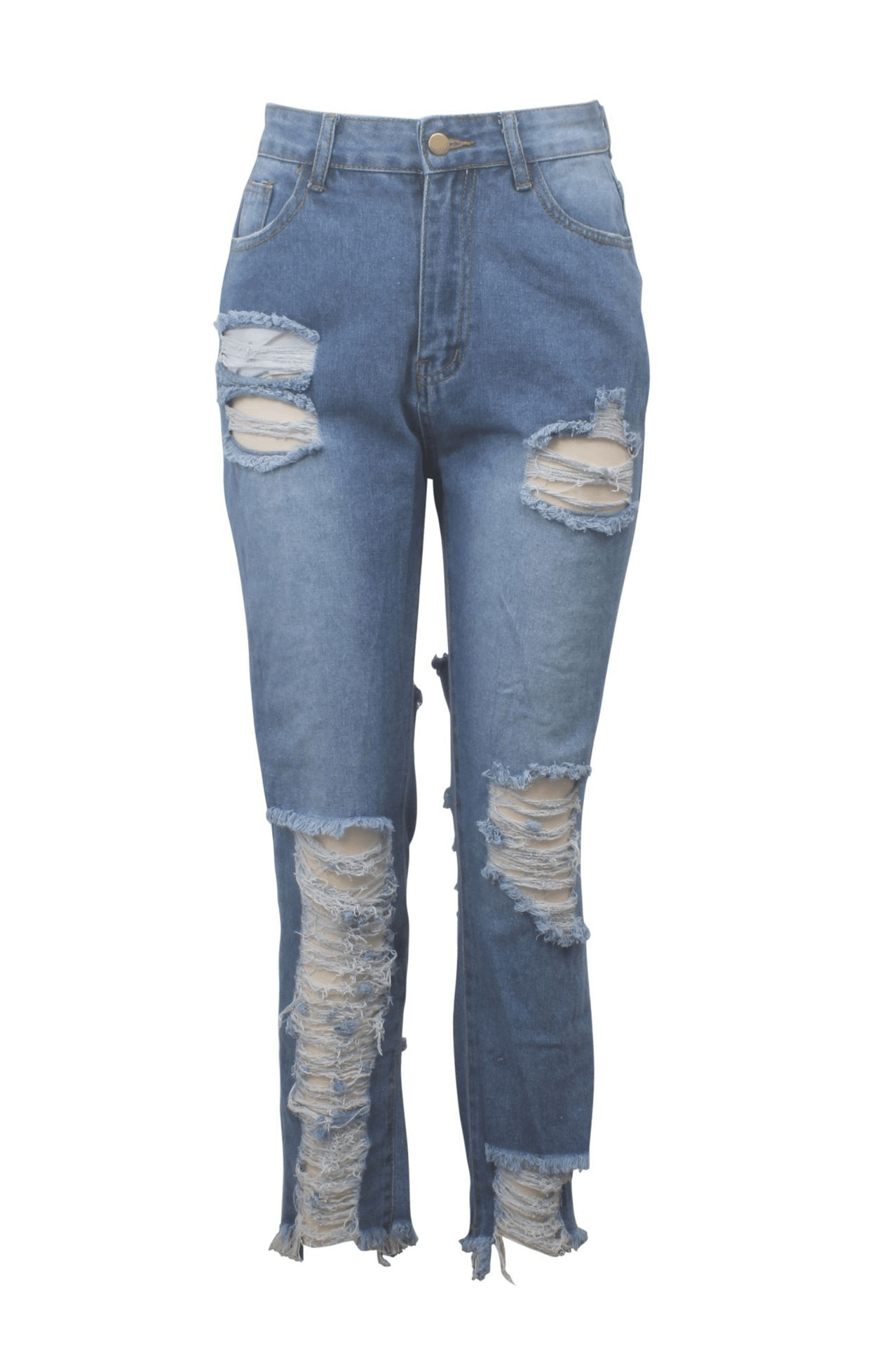 Fashion Hand-Broken Jeans