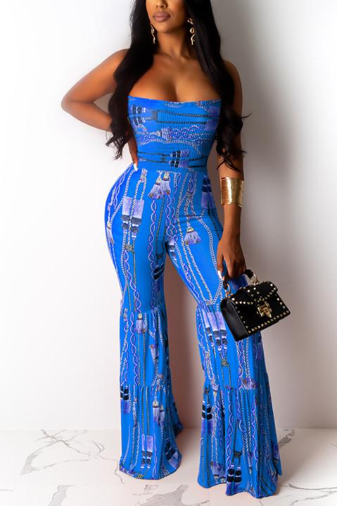 Fashion Sexy Printed Strapless Jumpsuit