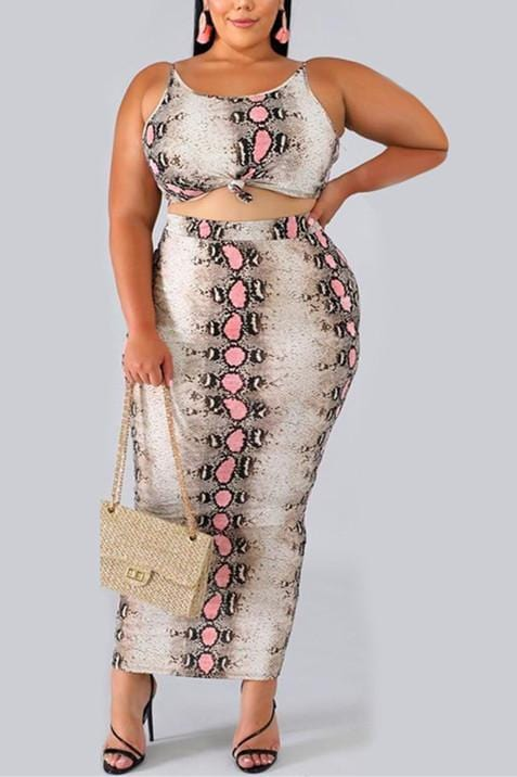 Sexy Print Sling Tight-Fit  Two-Pieces