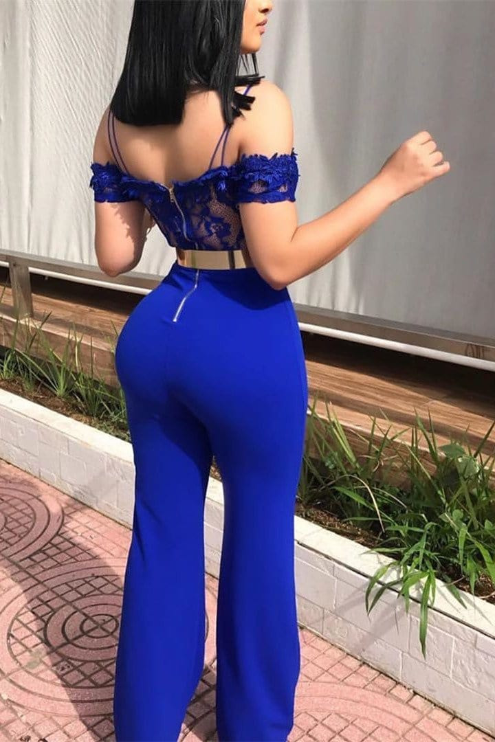 Sexy Suspenders Lace Applique Jumpsuit {Without Belt}