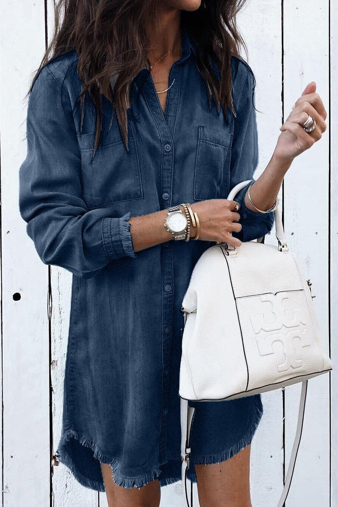 Slim Sexy Fringed Denim Dress