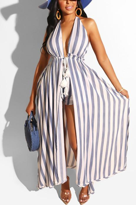 Sexy Fashion Striped Printed Short Set