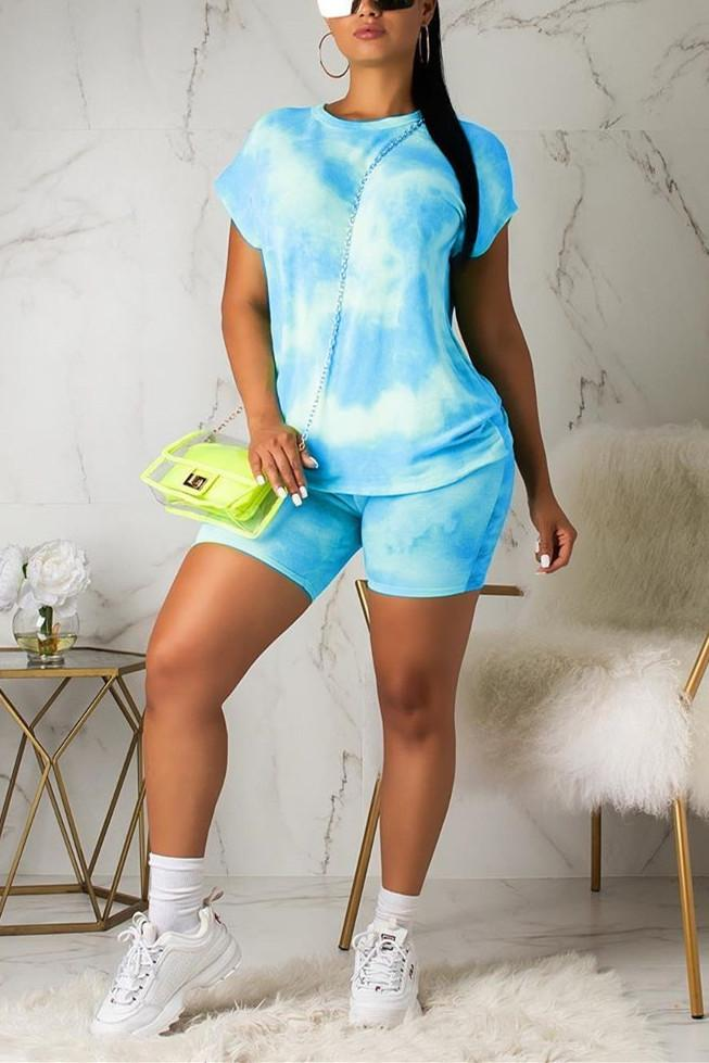 Sexy Casual Hit Color Shorts Set