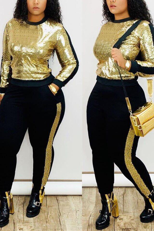 Casual Long Sleeved Trousers Sports Suit