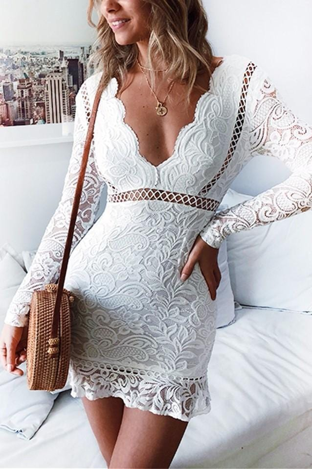 Sexy Lace V-neck Dress