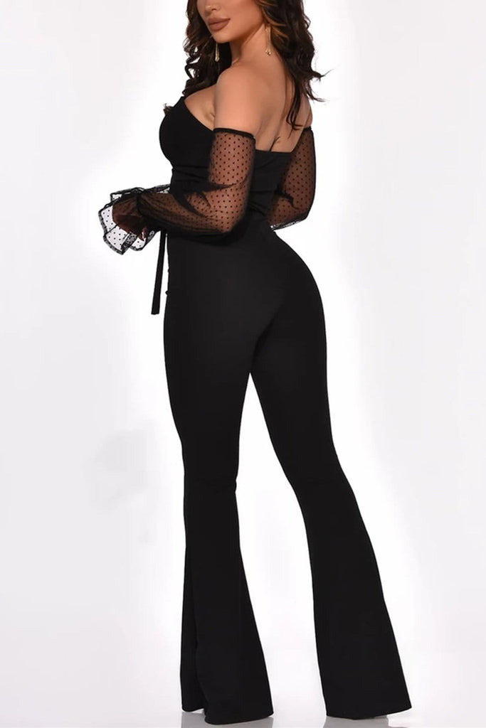 Irregular Off-The-Shoulder Bandage Jumpsuit