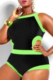 Fashion Plus Size One Piece Swimsuit