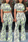 Fashion Zebra Print Pants Set