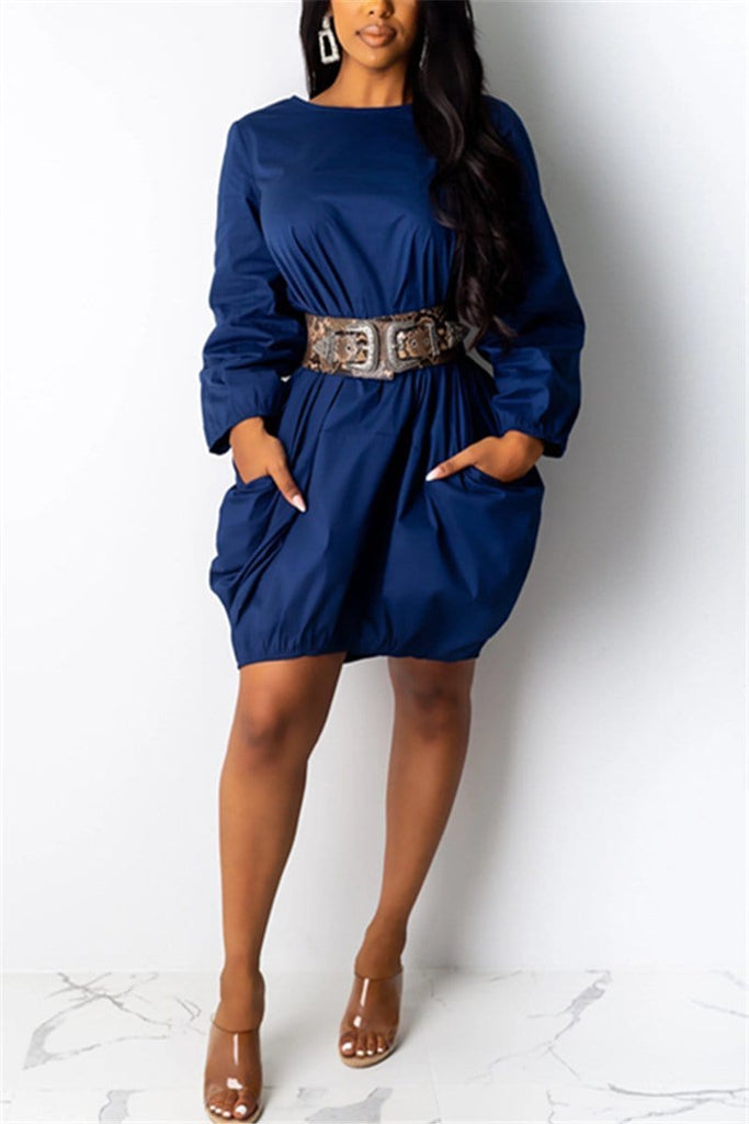 Fashion Casual Pullover Dress
