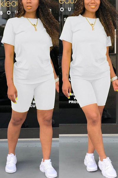 Casual Short Sleeve Two-piece Set - VogueRegion