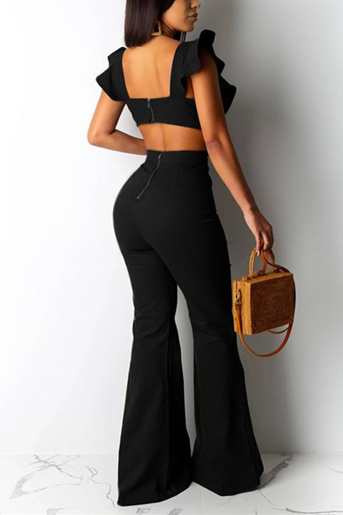Fashion Sexy Ruffled Sleeveless Jumpsuit