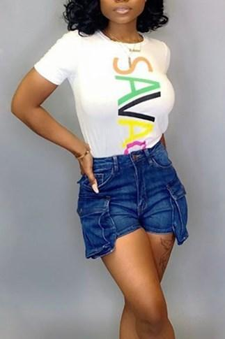 Stylish Letter Digital Positioning Print T-shirt