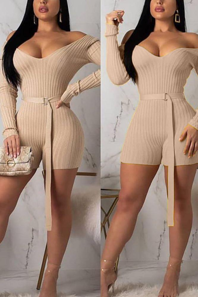 Sexy Threaded Cloth Romper {With Belt}