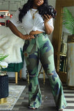 Fashion Plus Size Camouflage Print Trousers