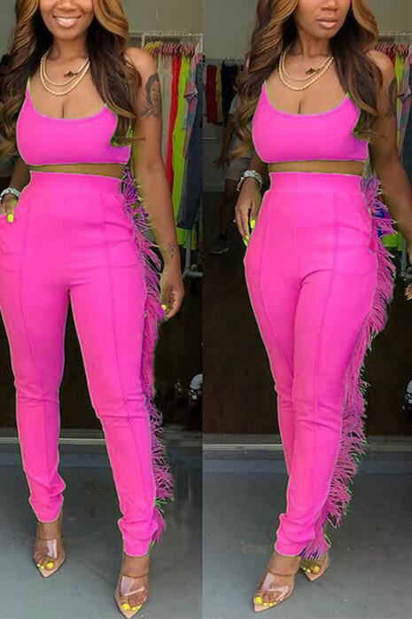 Sexy Sling Tops Tight Trousers Set