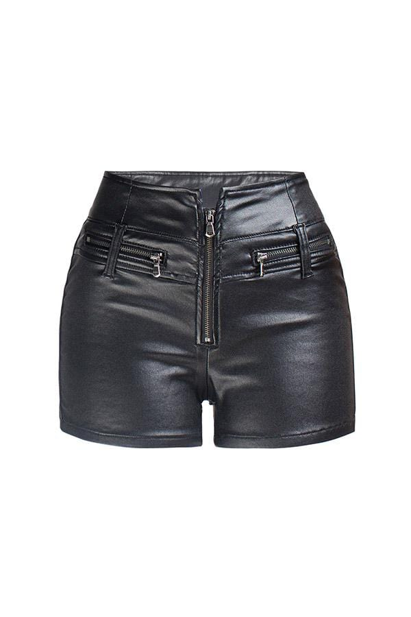 Fashion High-Waist Stretch Slim-Fit  Shorts