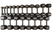 Load image into Gallery viewer, ISF 5-50LB Cast Iron Dumbbells w/ Knurled Handles by I Sell Fitness