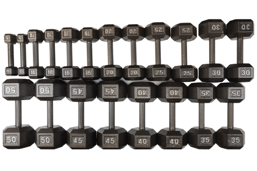 ISF 5-50LB Cast Iron Dumbbells w/ Knurled Handles by I Sell Fitness