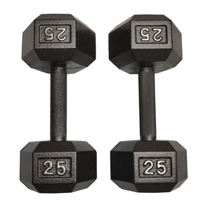 I Sell Fitness (ISF) 25 LB Dumbbells Pair Cast Iron Hex