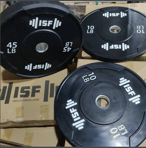 ***PRE ORDER*** ISF Bumper Plates Sets & Pairs Solid Rubber LBS Olympic Weights