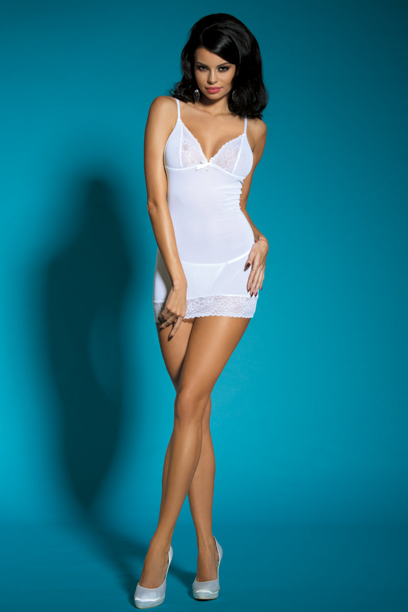 la-vie-sexuelle - White embroidered dress set - LVS - lingerie