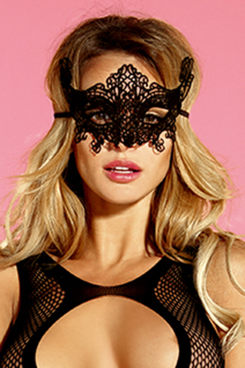 Black Burlesque Mask by LVS Lingerie Australia Kinky Sexy
