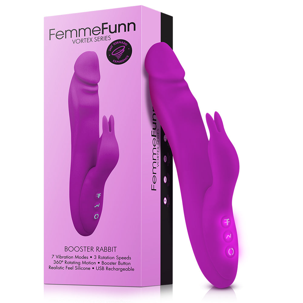la-vie-sexuelle - Booster rabbit | Femme Funn | Vibrating dildo for couples | 7 modes - Femme Funn - adult toy