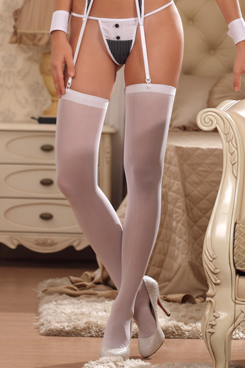 la-vie-sexuelle - White stockings - LVS - lingerie
