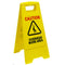 Overhead Work Area Caution Sign Yellow
