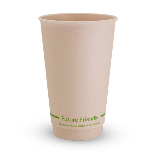 Double Wall Hot Cup With PLA Lining - 16oz - 500 Pack