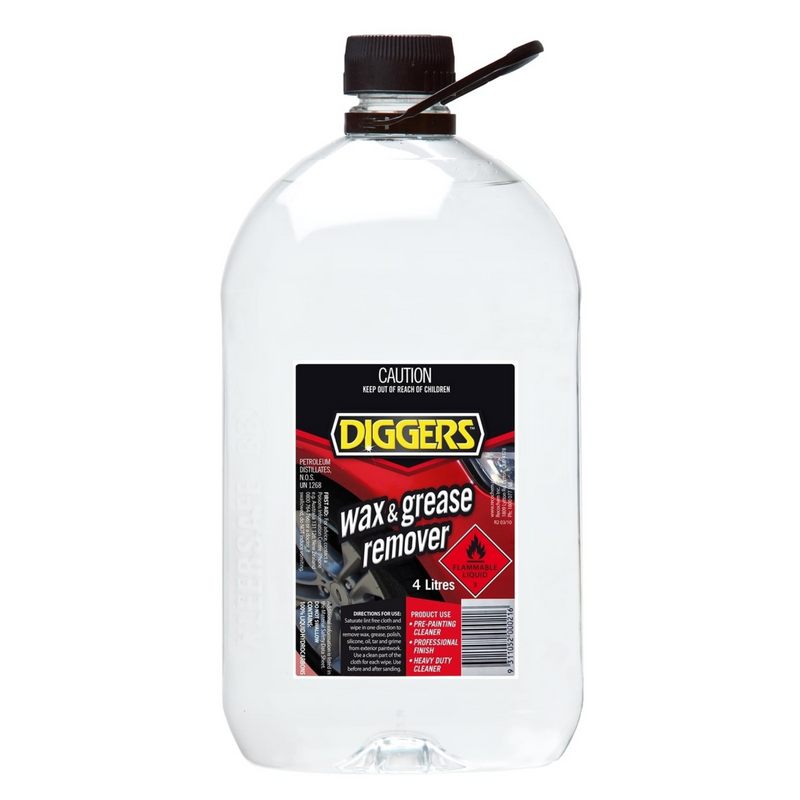 Diggers Wax & Grease Remover 4 Litre