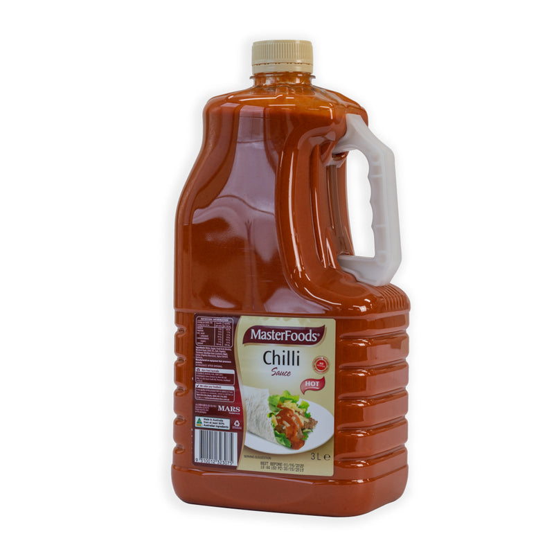 MasterFoods Hot Chilli Sauce - 3LT