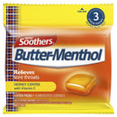 Soothers Butter Menthol Throat Lozenges - 3 Pack